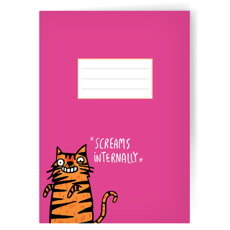 Screams Internally A5 Notebook by Katie Abey - Notebooks - Spiffy