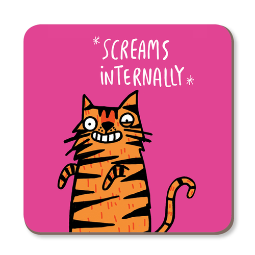 Screams Internally Coaster by Katie Abey - Spiffy