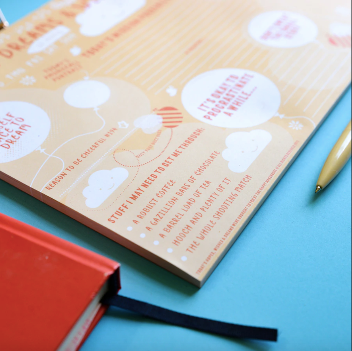 Hopes, Dreams & Wishes A4 Desk Jotter - Spiffy