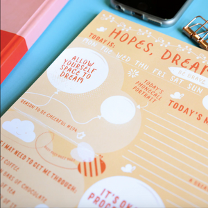 Hopes, Dreams & Wishes A4 Desk Jotter - Planners - Spiffy