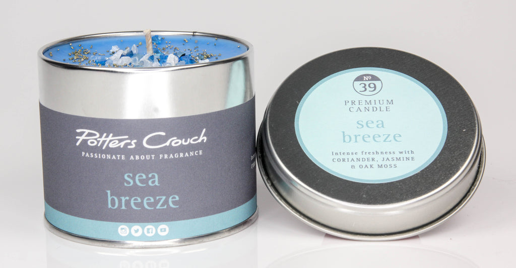 Potters Crouch Sea Breeze Luxury Fragranced Candle Tin - Spiffy