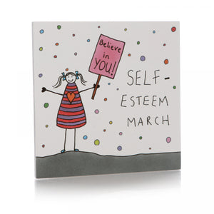 Self-Esteem March Coaster - Happy Coasters - Spiffy