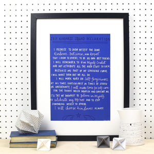 Self-Kindness Squad Declaration A4 Print - Prints - Spiffy