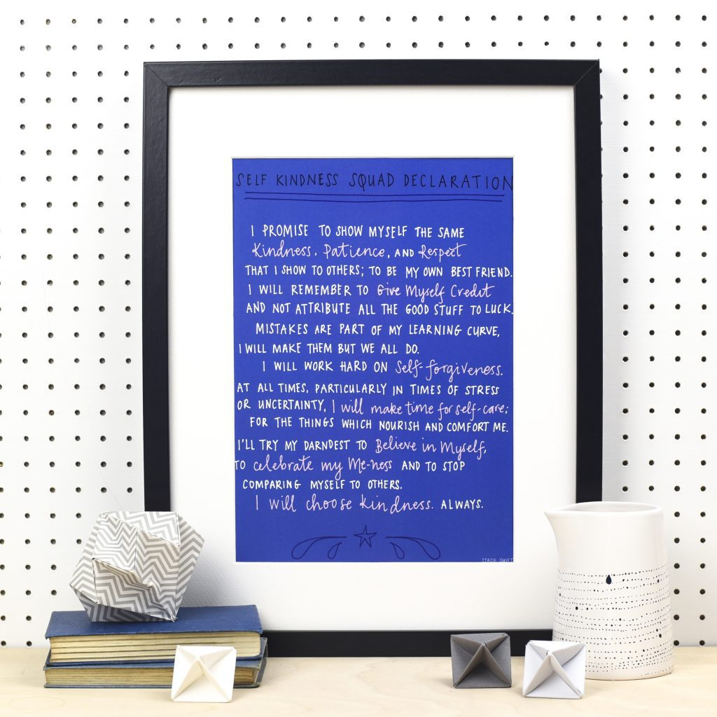 Self-Kindness Squad Declaration A4 Print