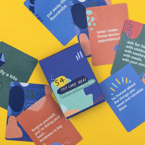 54 Self-Care Ideas Card pack - Inspirational Message Sets - Spiffy