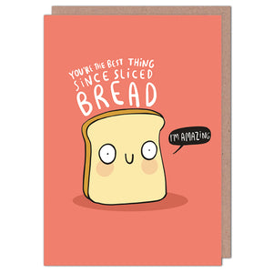 Sliced Bread Greetings Card by Katie Abey - Cards - Friendship - Spiffy