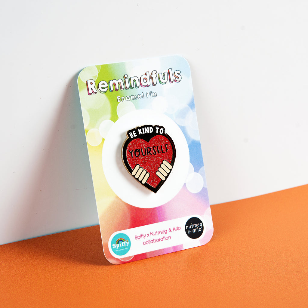 Be Kind to Yourself - Remindfuls Enamel Pin - Light Skin Tone - Spiffy