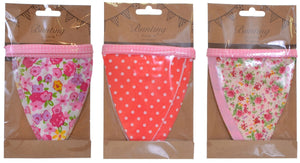 Spotted/Floral Flag Bunting 2m - Bunting and Garlands - Spiffy