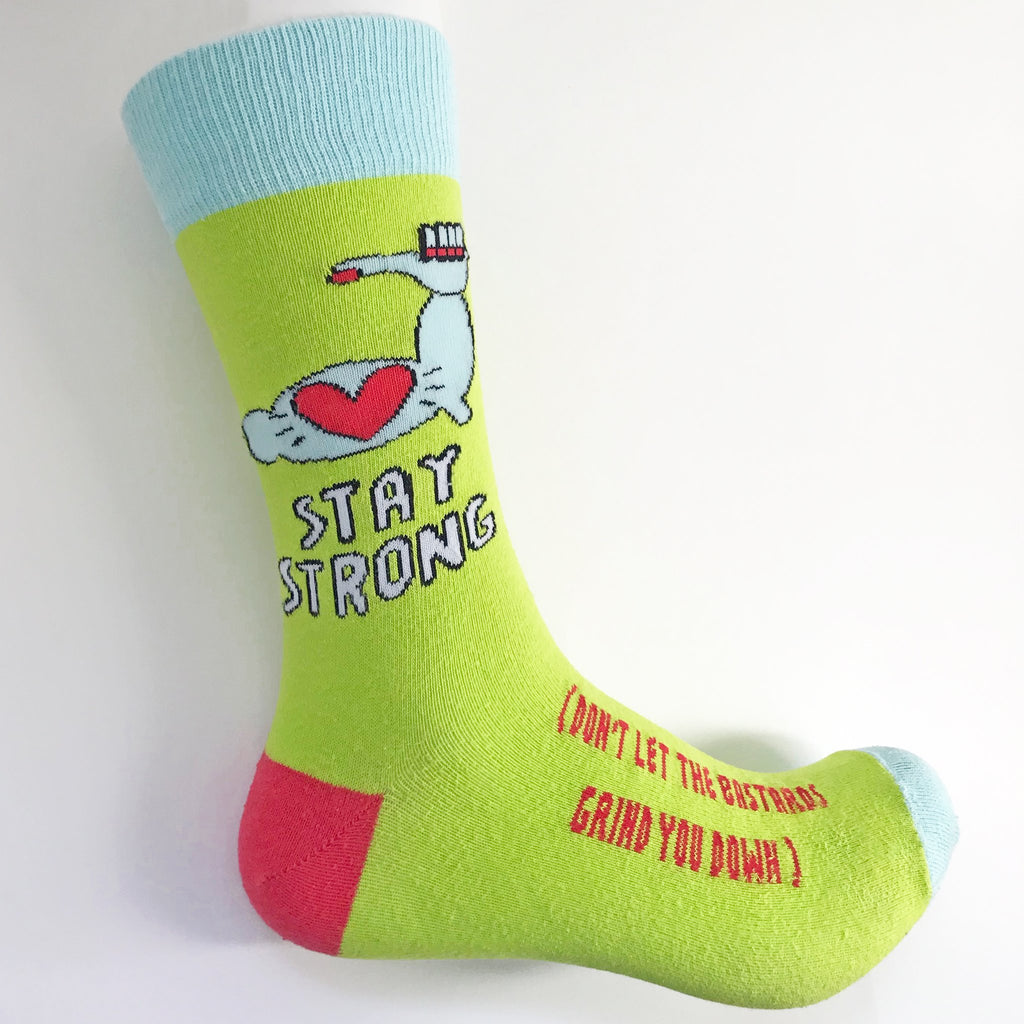 Stay Strong Socks by Angela Chick - Spiffy