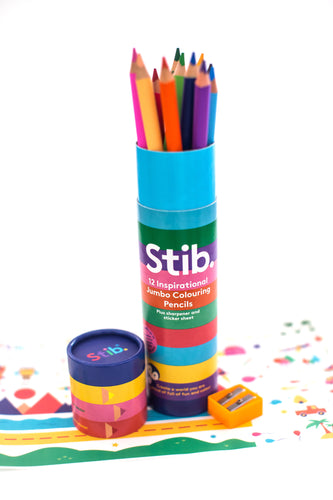 Jumbo Stib Colouring Pencils (10 pk)