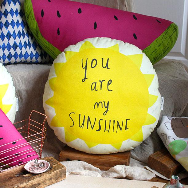 You Are My Sunshine Plushie Cushion - Spiffy