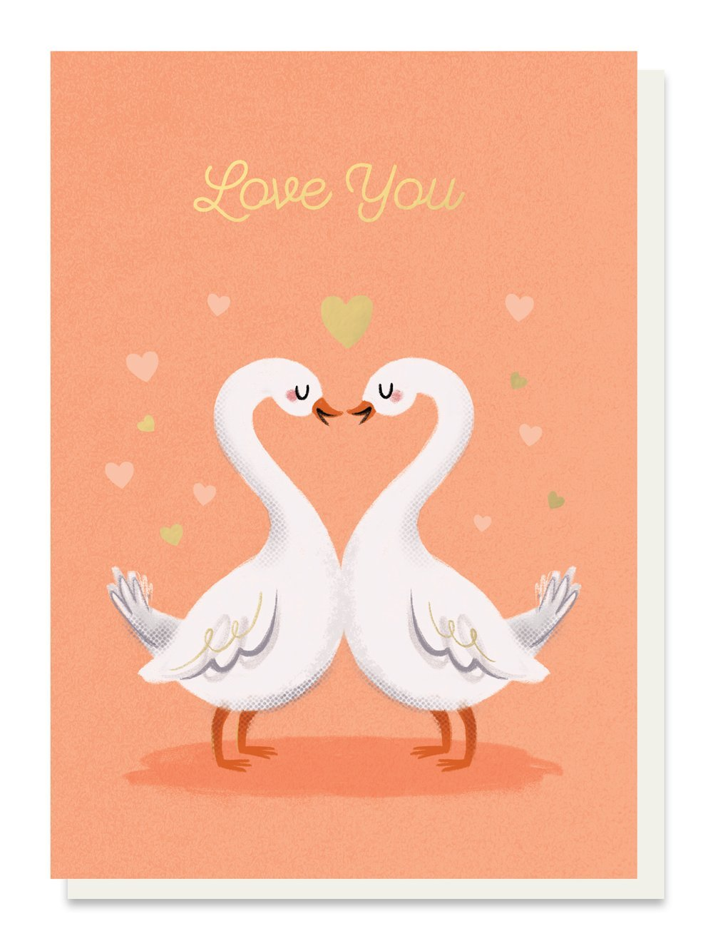 Love Swans Love Card - Cards - Love and Romance - Spiffy
