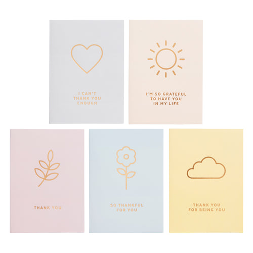 Thank You Card Pack (5pk) - Cards - Thank You - Spiffy