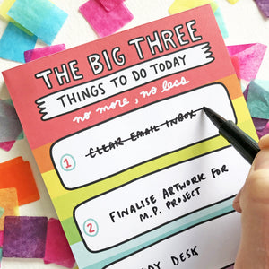 The Big Three To Do List Notepad by Angela Chick - Notepads - Spiffy