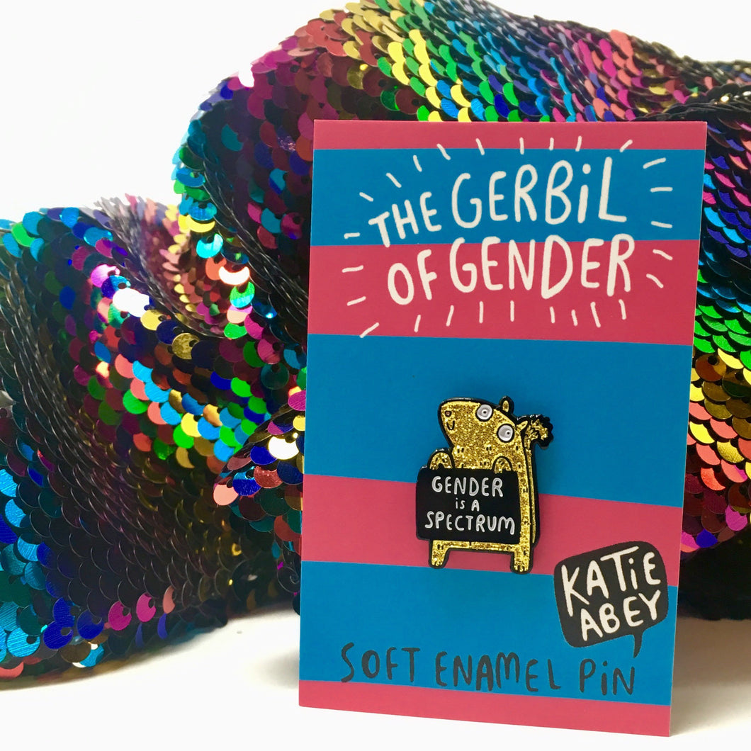 The Gerbil of Gender Enamel Pin by Katie Abey