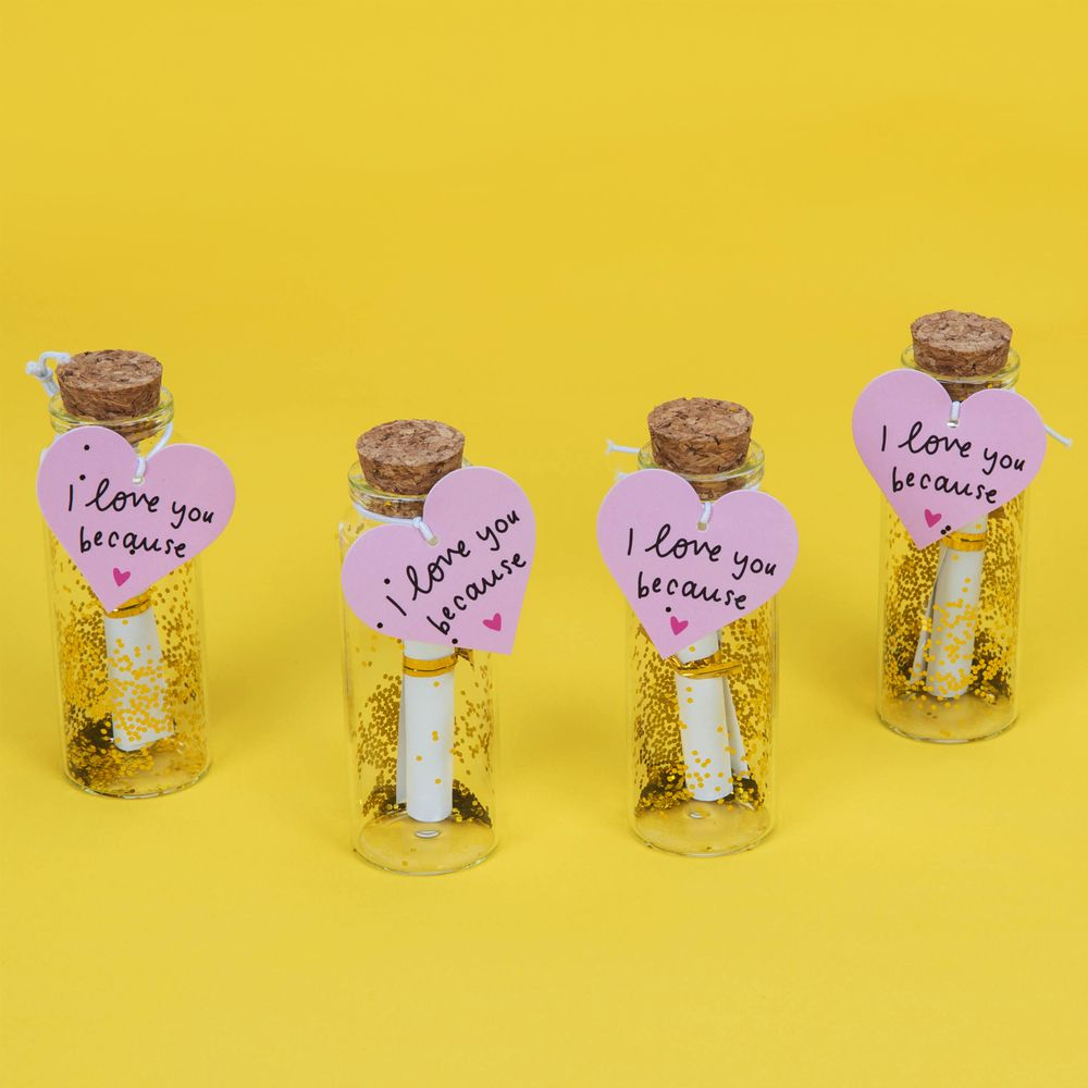 Set of 4 Jars - Things I Love Most About You - The Happy News Collection - Inspirational Message Sets - Spiffy