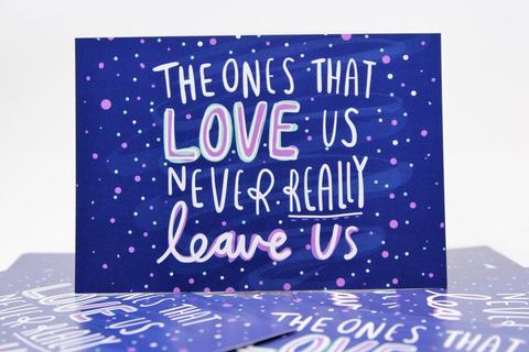 The Ones That Love Us - A6 Postcard by Katie Abey