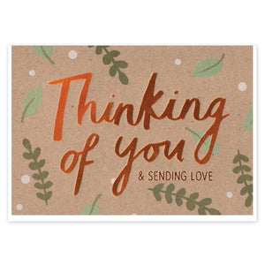 Thinking of You Copper Foil Empathy Card - Cards - Empathy - Spiffy