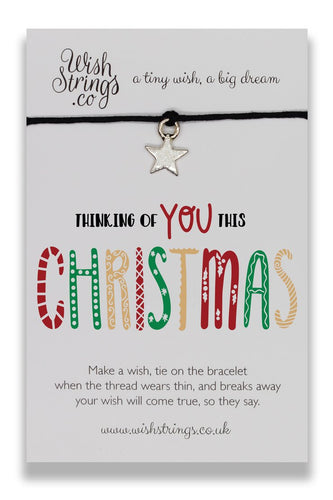 Thinking of You This Christmas - Wishstring Wish Bracelet - Christmas Wish Bracelets - Spiffy