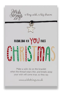 Thinking of You This Christmas - Wishstring Wish Bracelet