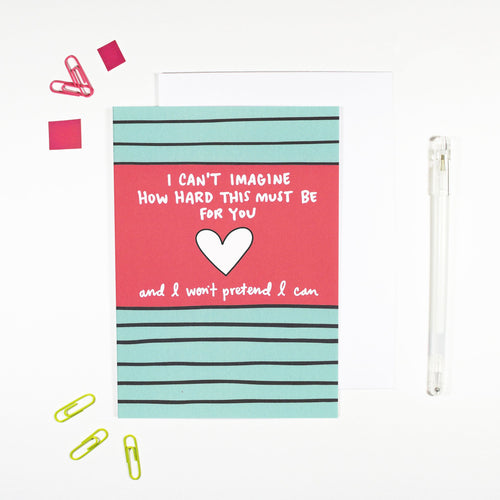 This Must Be Hard Card for Hard Times by Angela Chick - Cards - Empathy - Spiffy