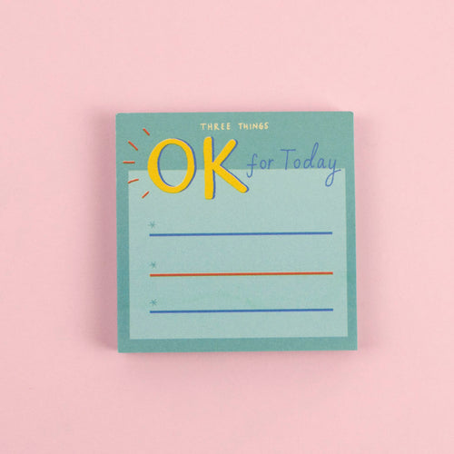 Three Okay Things Sticky Notes - Spiffy
