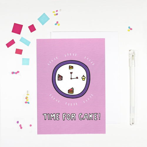 'Time for Cake' Birthday Card by Angela Chick - Cards - Happy Birthday - Spiffy
