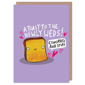 Toast To The Newly Weds Wedding Card by Katie Abey - Cards - Wedding and Engagement - Spiffy
