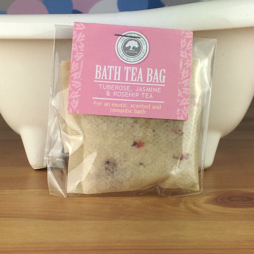 Tuberose, Jasmine and Rosehip Tea - Bath Tea Bag by Wild Olive - Spiffy