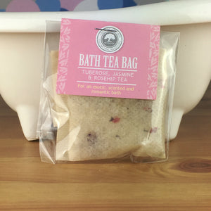 Tuberose, Jasmine and Rosehip Tea - Bath Tea Bag by Wild Olive