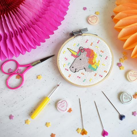 Unicorn Mini Cross Stitch Kit - Cross Stitch Kits - Spiffy