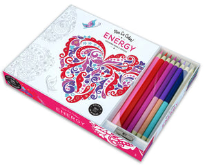Vive Le Color! Energy (Colouring Book and Pencils)