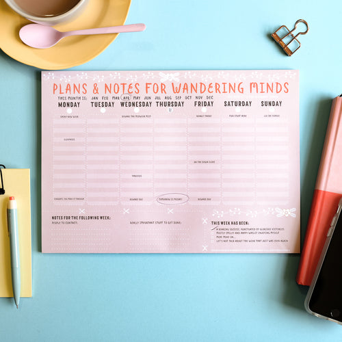 Wandering Minds A4 Weekly Planner