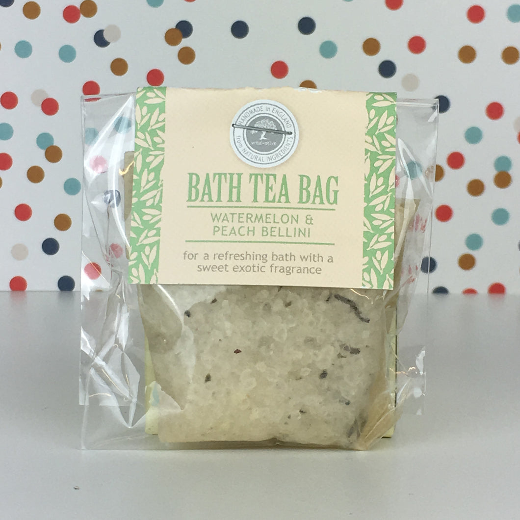 Watermelon and Peach Bellini - Bath Tea Bag by Wild Olive - Bath Tea Bags - Spiffy