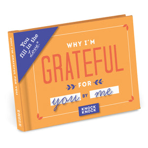 Why I'm Grateful For You - Fill in the Love Journal - Inspirational Stationery - Spiffy