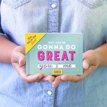 Why You're Gonna do Great - Fill in the Love Journal - Inspirational Stationery - Spiffy