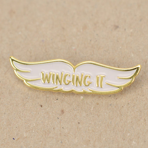 Winging It Enamel Pin Badge