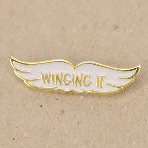 Winging It Enamel Pin Badge - Enamel Pins - Spiffy