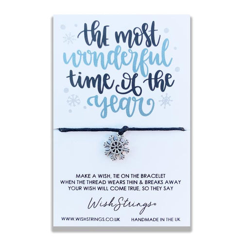 Most Wonderful Time of The Year - Wishstring Wish Bracelet - Christmas Wish Bracelets - Spiffy