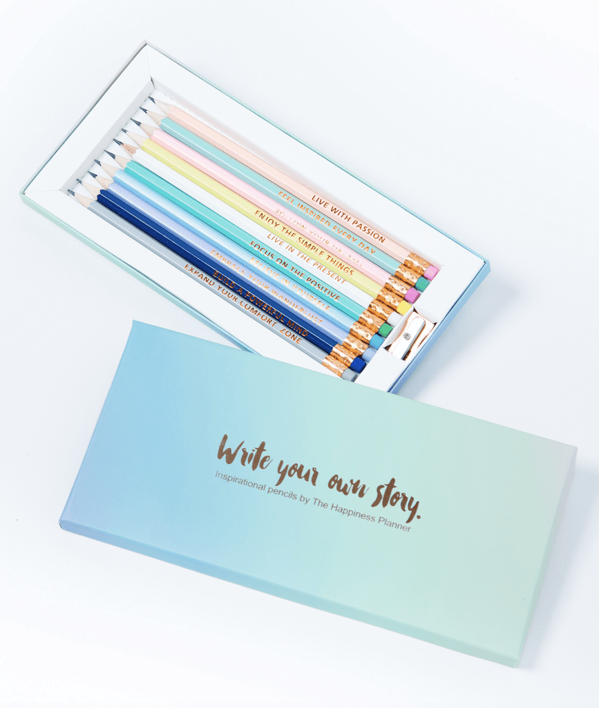 Write Your Own Story Inspirational Pencils - Spiffy