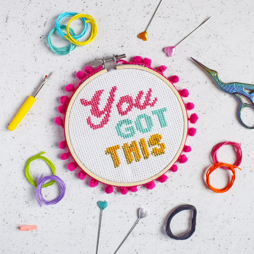 You Got This Cross Stitch Kit