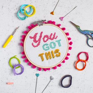 You Got This Cross Stitch Kit - Cross Stitch Kits - Spiffy