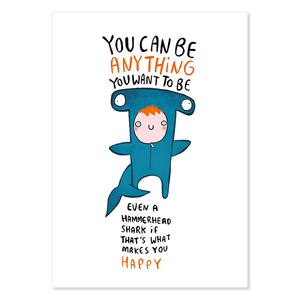 You Can Be Anything Postcard by Katie Abey