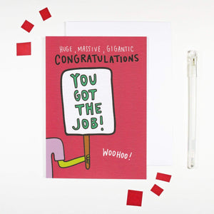 'You Got the Job' New Job Card by Angela Chick - Cards - New Job and Retirement - Spiffy