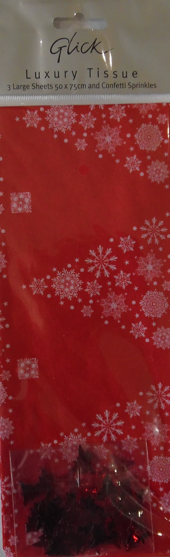 Red Trees Tissue Paper with Confetti - Tissue Paper - Spiffy