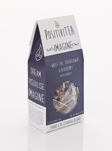 Positivitea Imagine Tea Bags - White tea, Elderflower & Blueberry With Eyebright - Snacks & Drinks - Spiffy