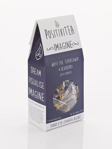 Positivitea Imagine Tea Bags - White tea, Elderflower & Blueberry With Eyebright - Spiffy