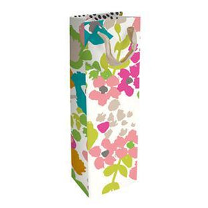 Ditsy Meadow Bottle Gift Bag by Caroline Gardner - Gift Bags - Spiffy