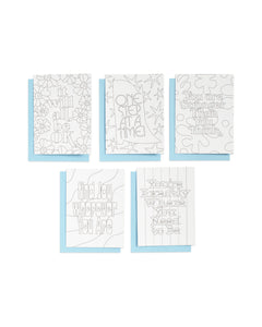 Uplifting Colour-In Notecard Set - Spiffy