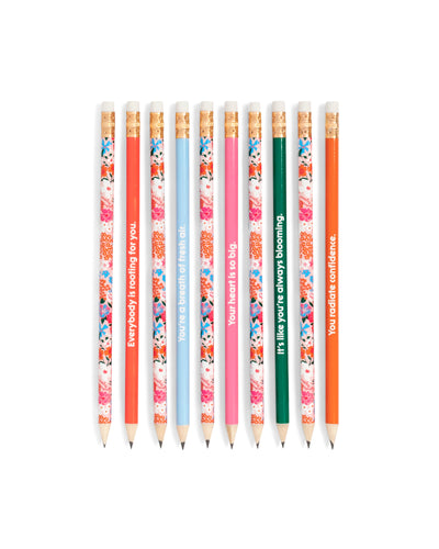 Everybody Is Rooting For You Floral Pencil Set - Spiffy
